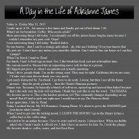 A Day in the Life: Adrianne James